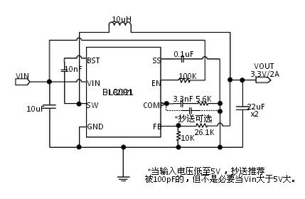 上海贝岭BL8091典型应用电路图