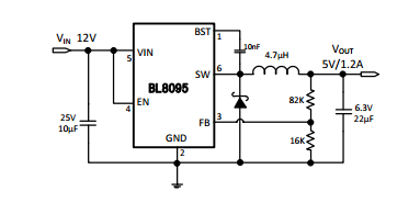 上海贝岭BL8095典型应用电路图