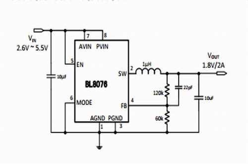 上海贝岭BL8076典型应用电路图