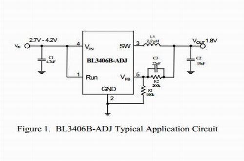 BL3406B型号典型应用电路图