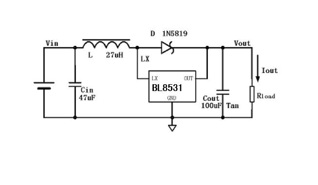 上海贝岭BL8531典型应用电路图