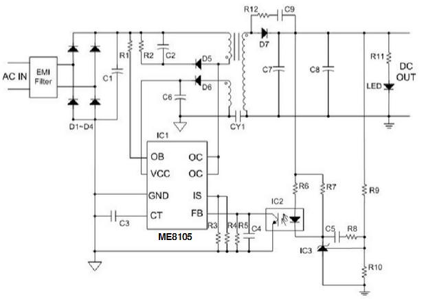 me8105d8g典型应用电路图