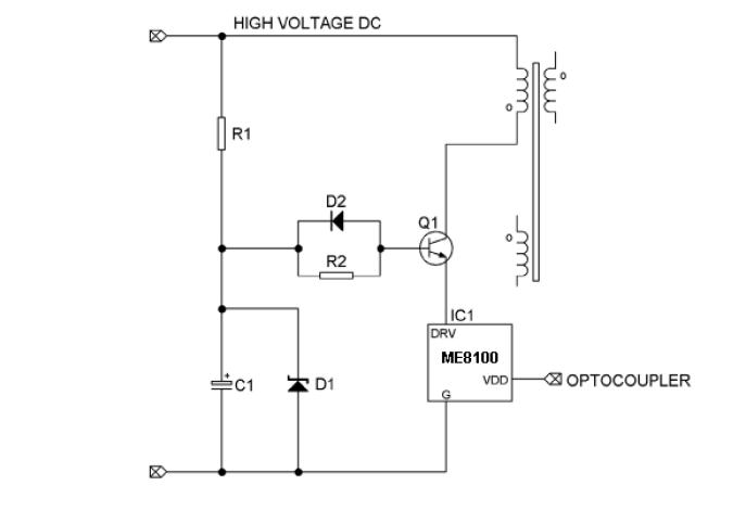 微盟ME8100ATG典型应用电路图