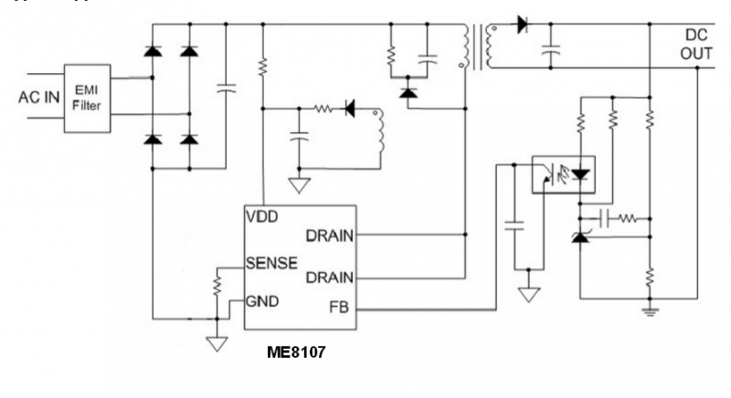 微盟me8107cd7g典型应用电路图