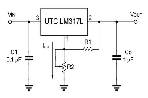 UTC友顺LM317L典型应用电路图