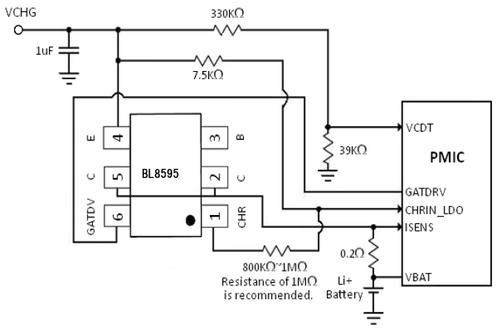 bl8595是专为电池充电控制器与专利bicmos流程,哪些特性pnp型
