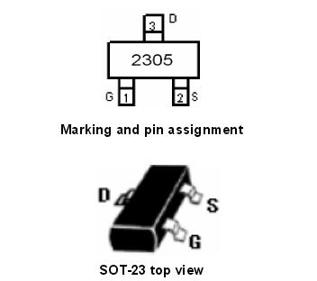 NCE2305引脚图/引脚功能