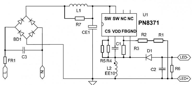 PN8371电源原理图