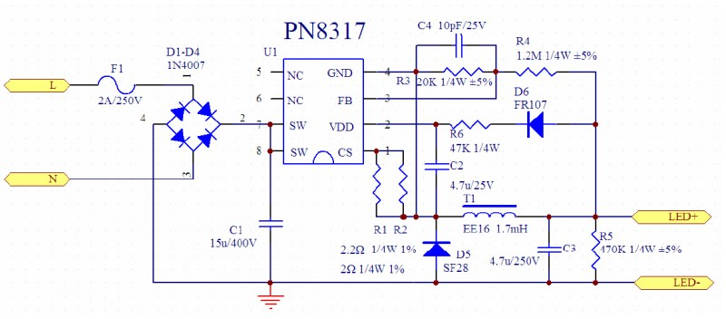 PN8317电源原理图