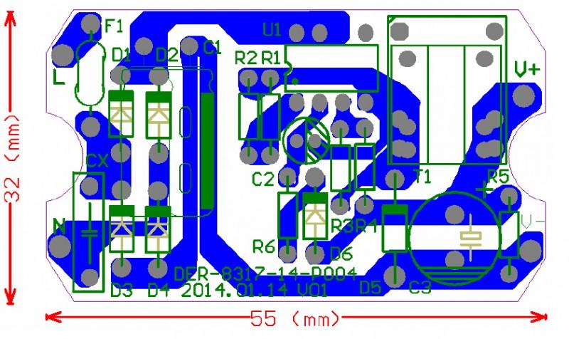 PN8317印制电路板
