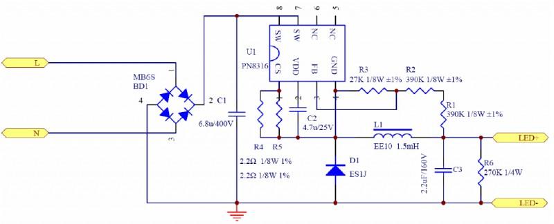 PN8316典型应用电路