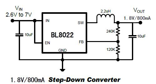 BL8022典型应用电路图