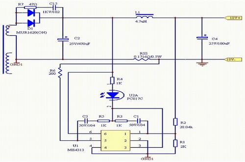 南京微盟me4313b型号典型应用电路图