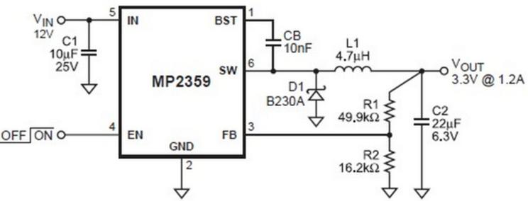 MP2359典型应用电路图