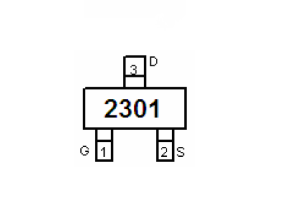 新洁能NCE2301引脚图/引脚功能