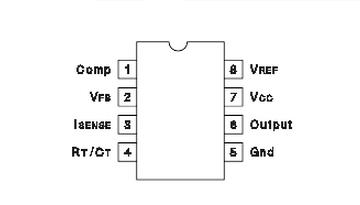德州仪器UC3843A引脚图/引脚功能