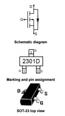 NCE2301D引脚图/引脚功能