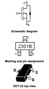 NCE2301B引脚图/引脚功能