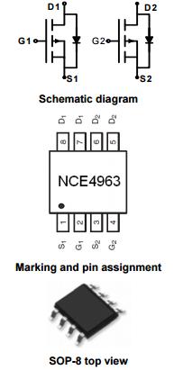 NCE4963引脚图/引脚功能