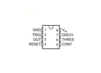 德州仪器NE555引脚图/引脚功能