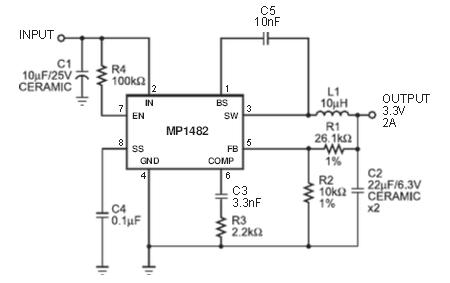 MP1482典型应用电路图