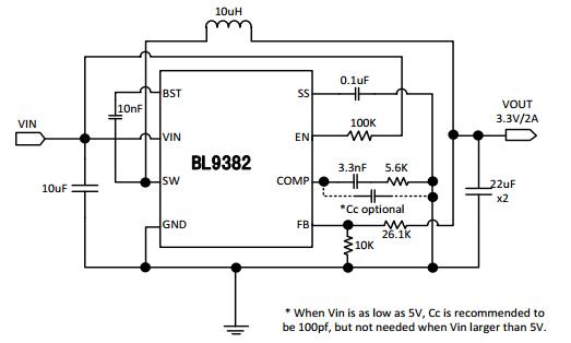 BL9382典型应用电路图