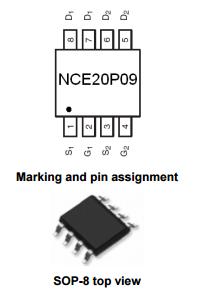 NCE20P09S引脚图引脚功能