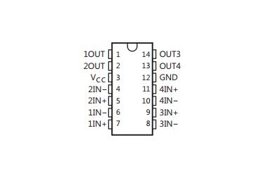 德州仪器LM339引脚图/引脚功能
