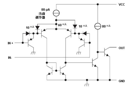 德州仪器LM339典型电路原理图