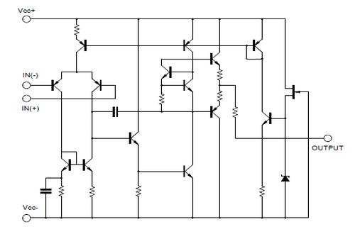 台湾友顺MC34072典型应用电路图