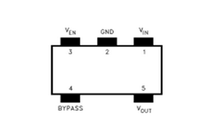 德州仪器LP3985引脚图/引脚功能