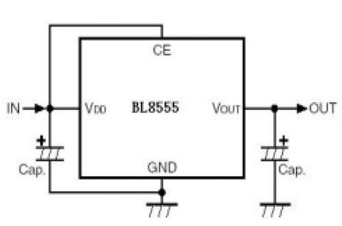 上海贝岭BL8555典型应用电路图