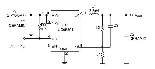 utc台湾友顺ud05301典型应用电路图