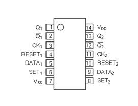 UTC台湾友顺UTC4013引脚图/引脚功能