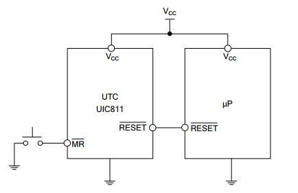utc台湾友顺uic811典型应用电路图