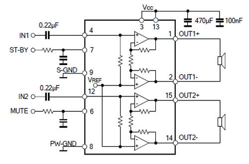 utc tda7266应用电路图