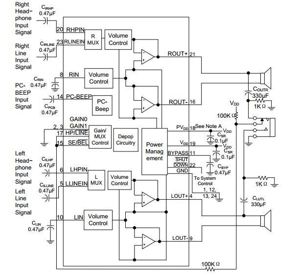 utc台湾友顺pa3312典型应用电路图