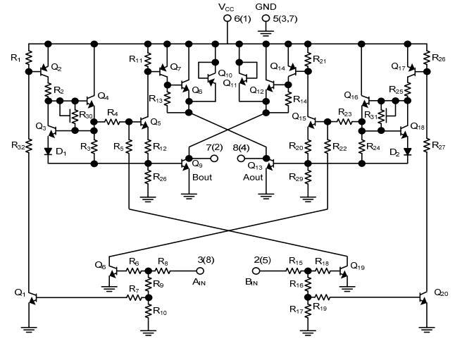 UTC台湾友顺 BA6208典型应用电路图