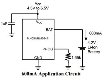 bl4054 产品种类 电池管理 电池管理 产品特性 独立线性锂电池充电器